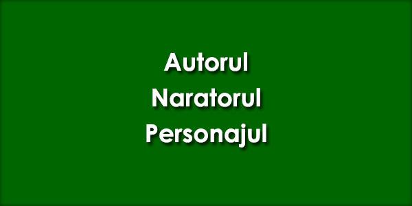 Autorul, Naratorul, Personajul