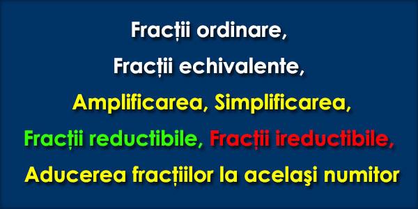 Fractii-ordinare-Fractii-echivalente-Amplificarea-Simplificarea-Fractii-reductibile-Fractii-ireductibile-Aducerea-fractiilor-la-acelasi-numitor