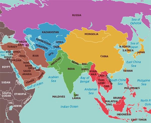 Asia - Ţări