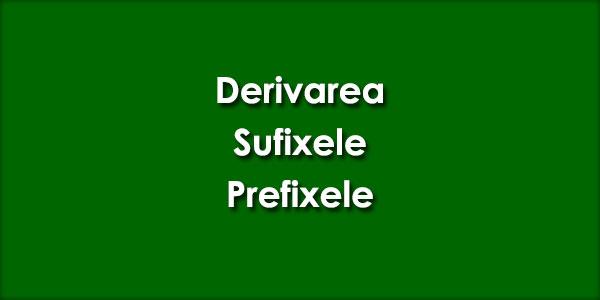 Derivarea-Sufixele-Prefixele