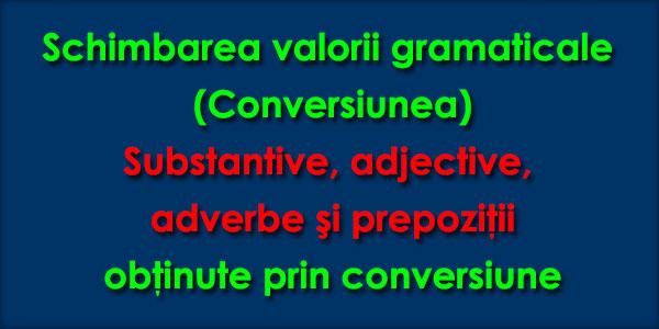 Schimbarea valorii gramaticale (Conversiunea)