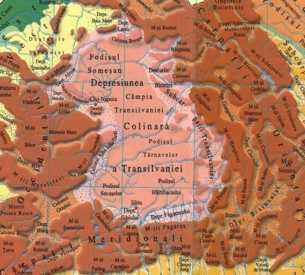 Depresiunea Colinară a Transilvaniei, Podişul Transilvaniei
